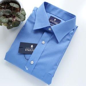 Stafford Mens Blue Shirt NWT 16-16.5 I 32-33